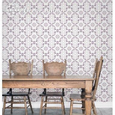 our stencils, vintage paint roller pattern - Retro I.