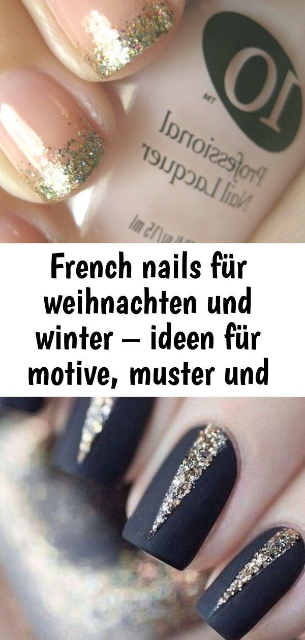 French Nails Fur Weihnachten Und Winter Ideen Fur Motive Muster Und Farben 3 French Nails Christmas Nails Nails