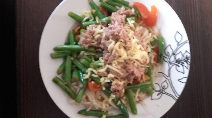 RECEPT Pasta met tonijn boontjes