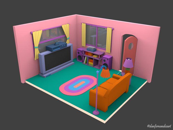 Casa dos Simpsons - Sala de TV
