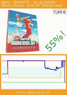 Mario - CMARIOTR - Jeu de Société - Album Stickers - Bros Wii Trading Cards (Jouet). Réduction de 55%! Prix actuel 7,99 €, l'ancien prix était de 17,79 €. https://www.adquisitio.fr/mario/cmariotr-jeu-soci%C3%A9t%C3%A9