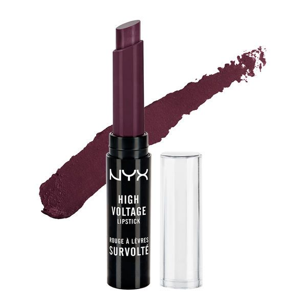 High Voltage Lipstick - Dahlia Lipstick from NYX Looking for a good dark purple shade