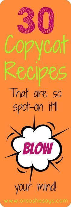 Oooooh, yum. Lots of copycat restaurant recipes!!