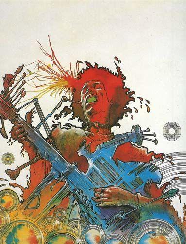 Jimi Hendrix  - Philippe Druillet