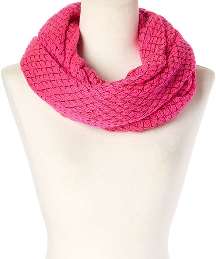 Look what I found on #zulily! Betsey Johnson Neon Pink Net Worth Infinity Scarf by Betsey Johnson #zulilyfinds