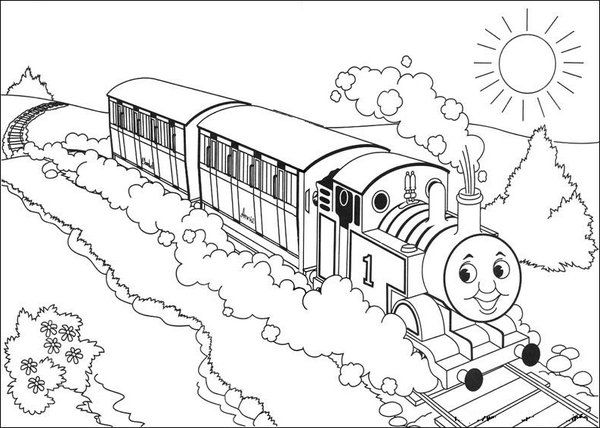 29 Best Images About Thomas Colouring Pages