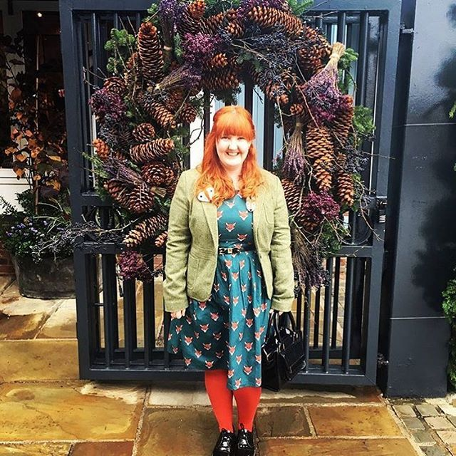 The fantastic katieloveskittycats (IG) is looking incredibly colourful in this gorgeous outfit! The perfect Autumn look 😍🙌🏻🍂 The Run & Fly Fox Head dress is back in stock in UK sizes 8-18 in store and online now 🎉 www.thunderegg.co.uk
