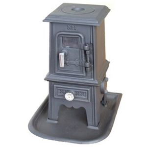 The Pipsqueak small cast iron wood stove! The Pip is the little brother to the popular Hobbit stove. This little guy puts out 10k btu and features cooktop, removable ash pan & integrated hearth all in 45lbs. Perfect for tiny spaces like: RV's, sailboats, wall tents, yurts and tiny houses!