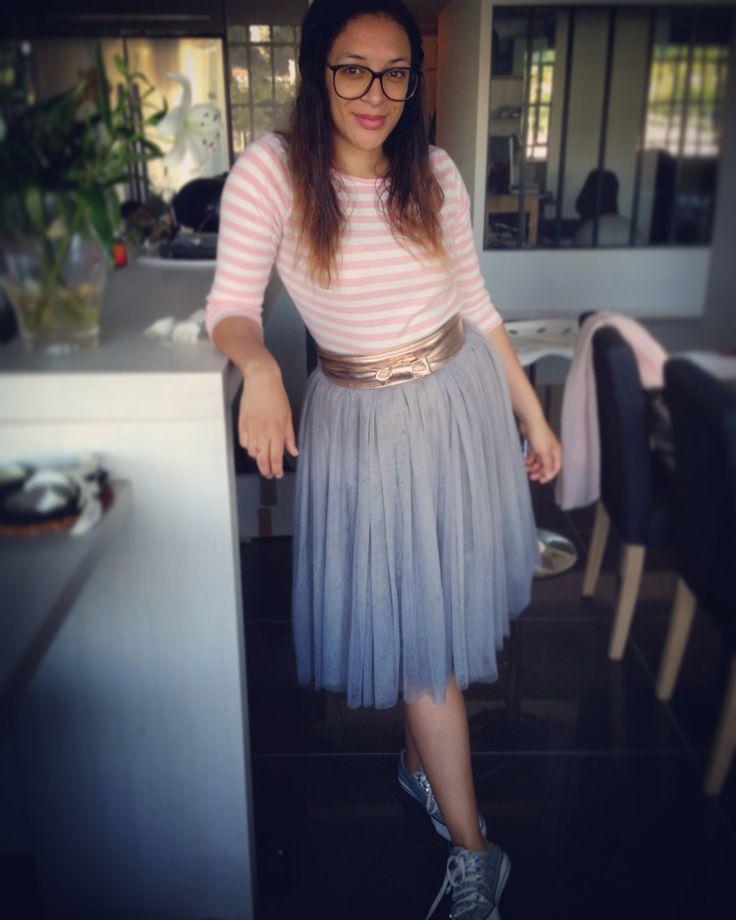 Blanc plissé jupe en Tulle à plusieurs niveaux pour les femmes