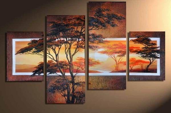 Ručně malovaný obraz - krajina 036