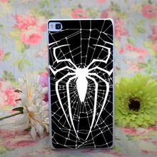Black spiderman Design branco caso capa dura para Huawei Ascend P6 P7 P8 P8 lite(China (Mainland))