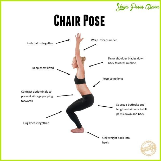 Cool Chair Yoga Pose Chair Pose Yoga Yoga Poses Advanced Chair Yoga