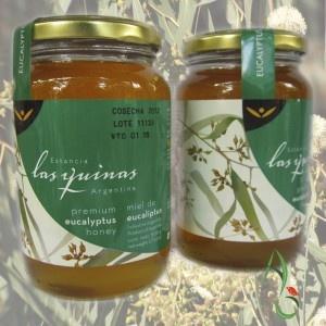 La miel de eucalipto estancia las quinas es una miel que se obtiene del litoral argentino y contiene un 70% de polen de miel