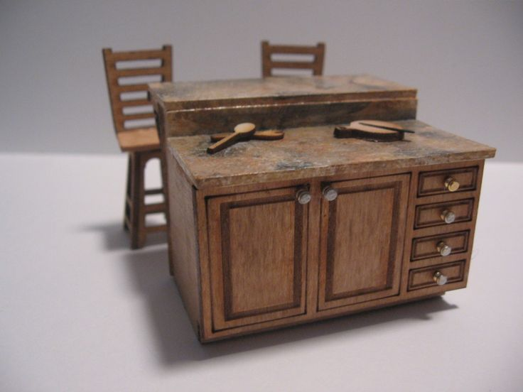 Kits to make dollhouse miniatures in three scales