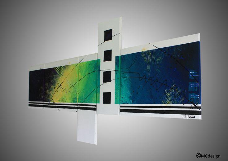 tableau, toile, art, abstrait, peinture, décoration, dégradé, carré, coloré, lignes   www.mcdesign.fr www.facebook.fr/mcdesignart
