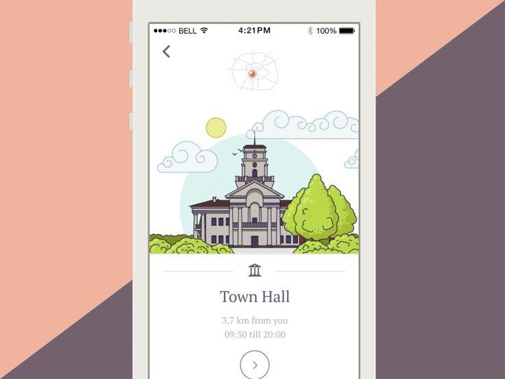 Dribbble - City Guide app concept by Roman Malashkov