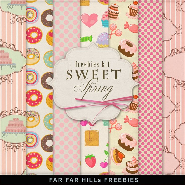 Far Far Hill: New Freebies Kit of Backgrounds - Sweet Spring