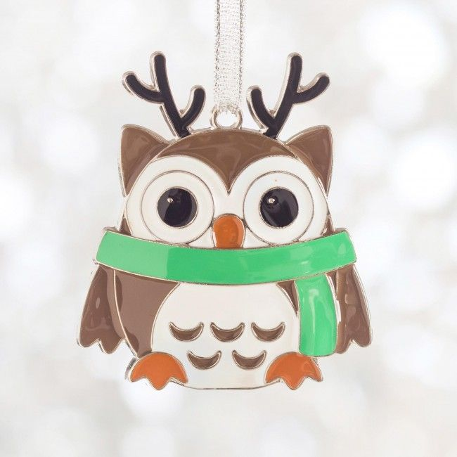 This adorable owl ornament will decorate your Christmas tree for years to come.