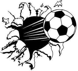 Soccer Ball sticker decal kids room decor sports football boys wall art bedroom