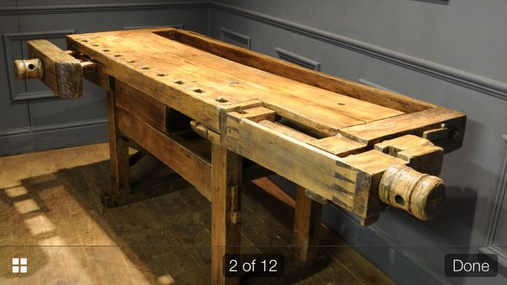 Beautiful old work bench. Seen some age and use but still warming and not something you'd feel precious over bumping - it would only add to the character.