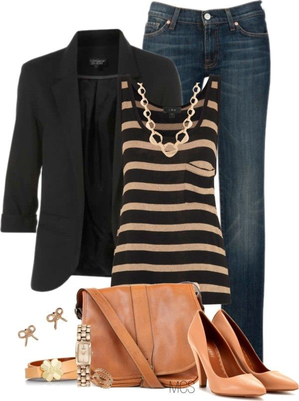 """""""Classy Classics"""" by mclaires on Polyvore - another great look for the black blazer"""