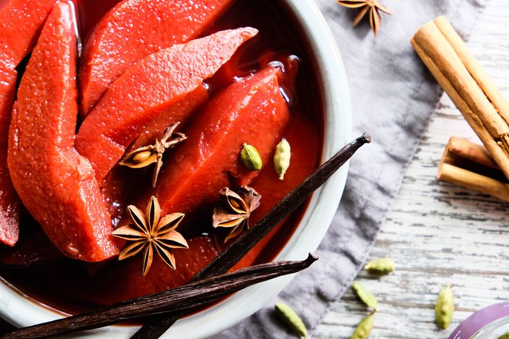 A simple and healthy low-sugar oven-poached quince recipe full of beautiful, fragrant spices.