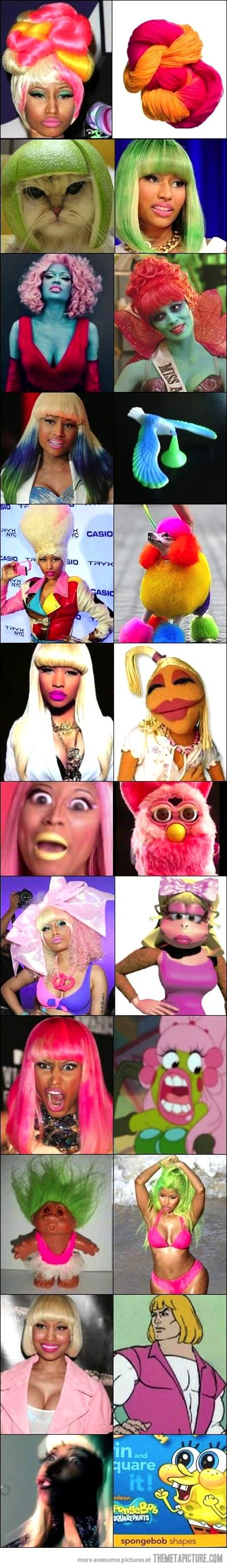 Things that look like Nicki Minaj…  this is funny but i have no idea who this woman is. i feel bad for her....but it seems she brings this on herself.....?