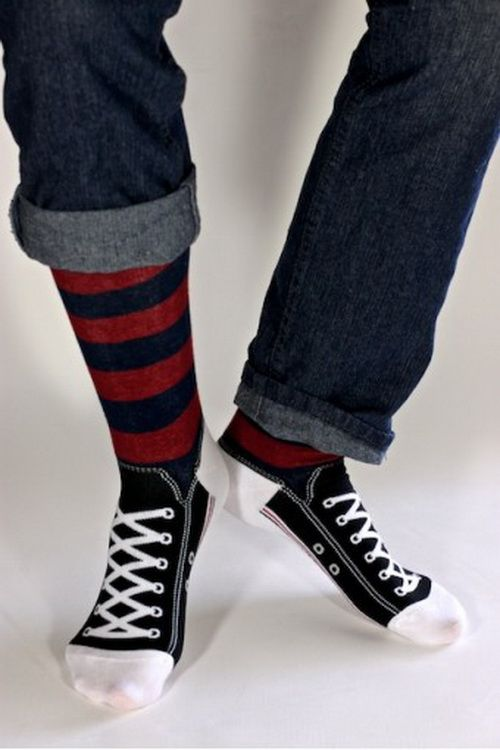 The Worst Gift Made Better: Men's Rugby Sneaker Socks http://getweirdgifts.com/worst-gift-made-better-mens-rugby-sneaker-socks/ Socks have always been one of the worst gifts you can get but not these unusual men's rugby sneaker socks. Take off your shoes and you're sure to get a few double-takes and compliments with the realistic converse and rugby socks look.