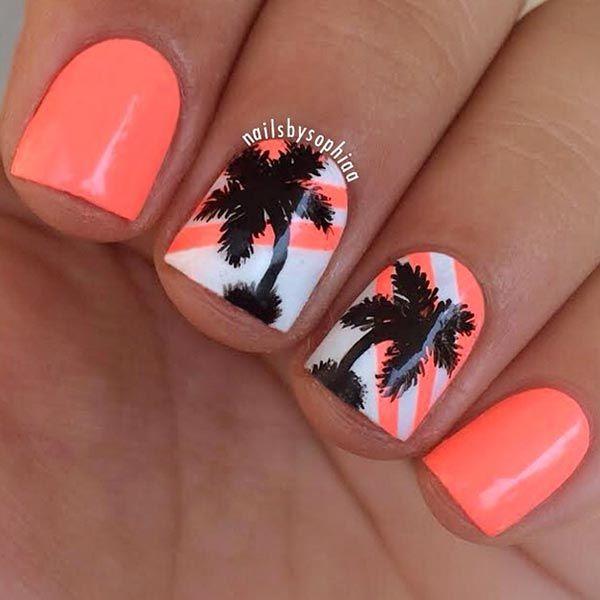 Uñas de primavera palmeras
