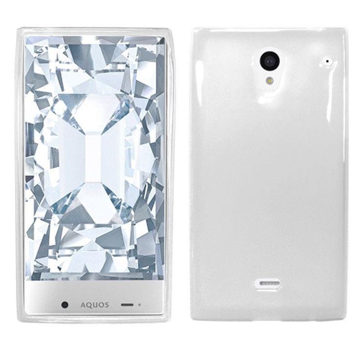 Zizo Slim-Fit Flexible TPU Sharp Aquos Crystal Case - Clear