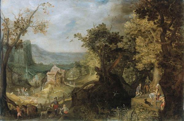 Anton Mirou 1608 Wooded Landscape Art Print Fine Art Reproduction Wall Art Kunstdruck The Help