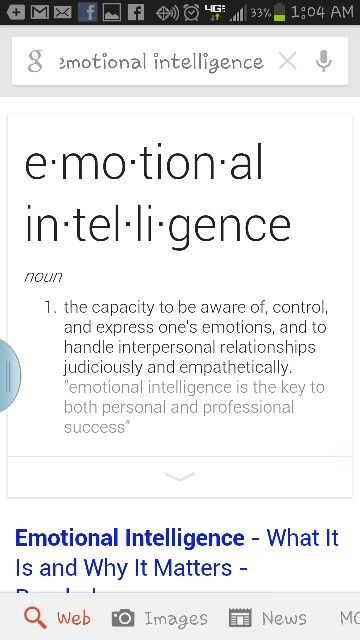 Define emotional intelligence