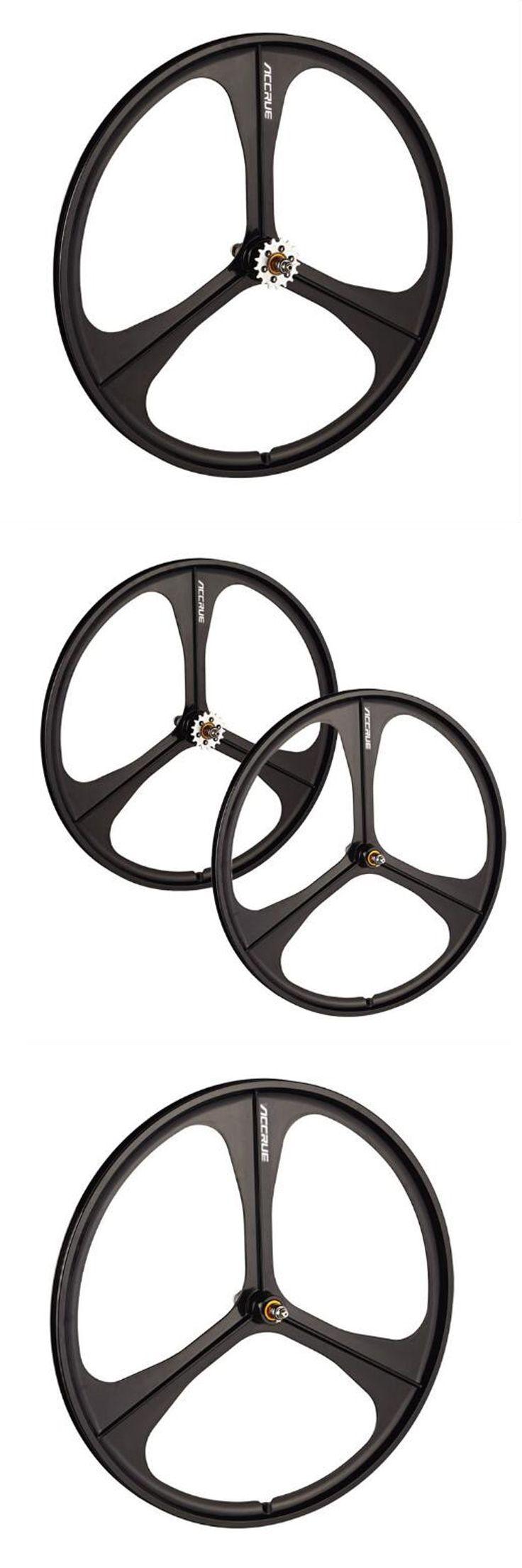 Magnesium Alloy Wheel 3 Pokes Fixie Bicycle Front wheel  Fixed Gear Bike Wheels Rims 700C  Wheel