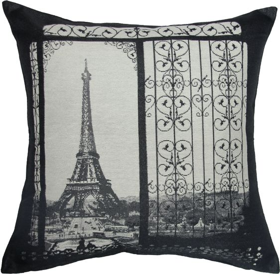 The Eiffel Tower Gate Toss Cushion from Urban Barn is a unique home decor item. Urban Barn carries a variety of Pillows and other  products furnishings.