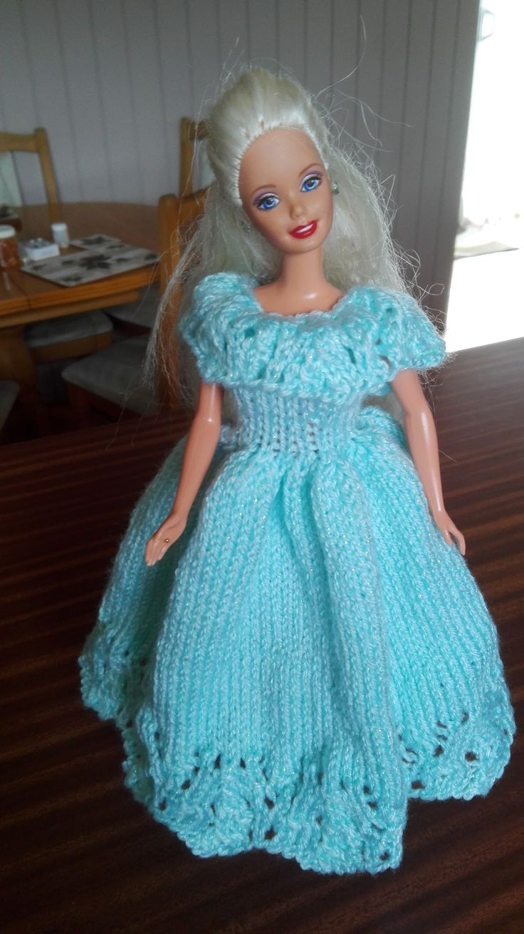 I knitted this Barbie ball gown for a friend's grand-daughter.