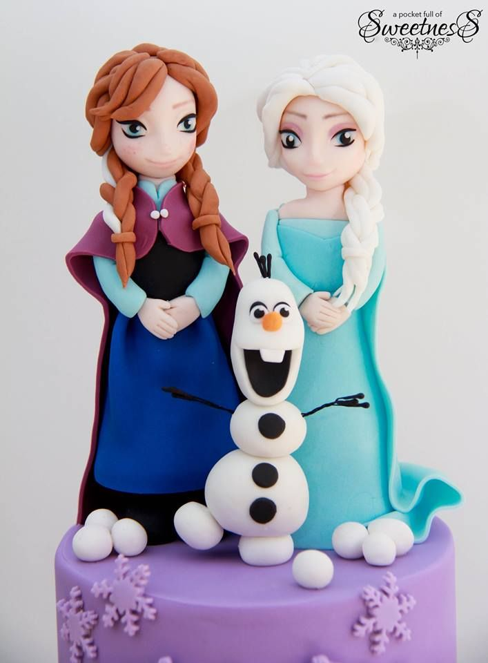 Pinterestteki 25den fazla en iyi Frozen themed birthday cake