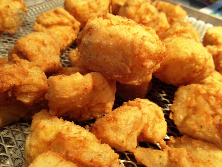 Southern fried fish nuggets mouths powder and salts for Cornmeal fried fish