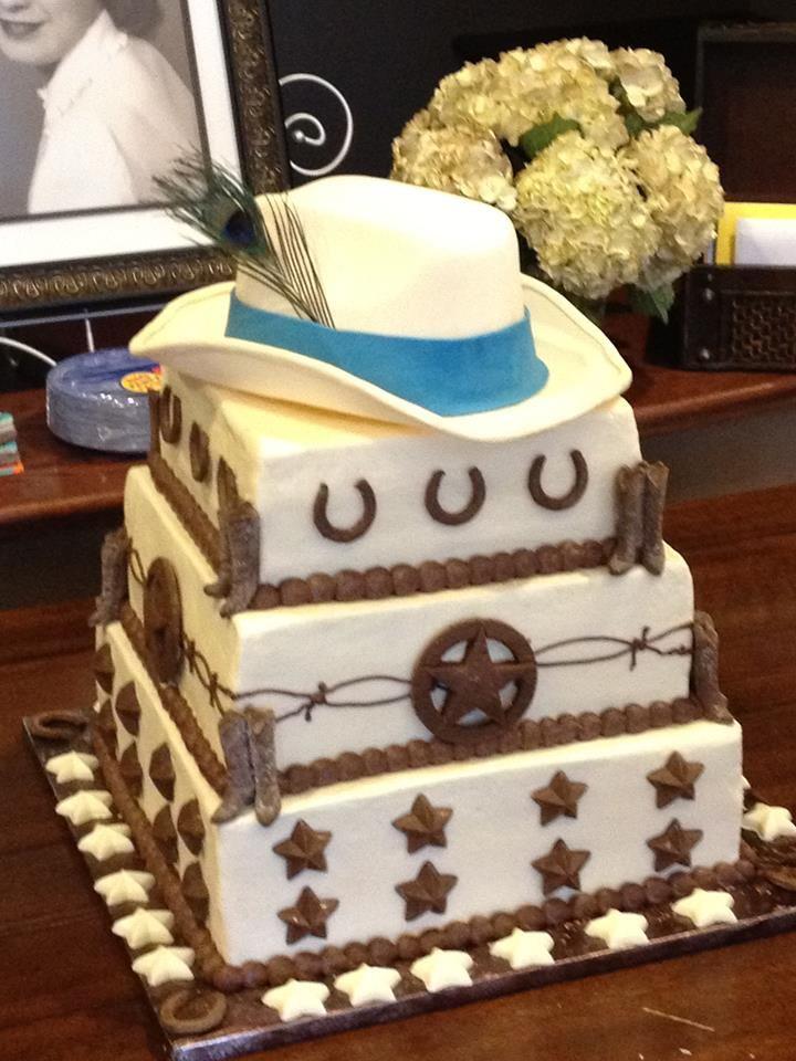 White Cowboy Hat Cake