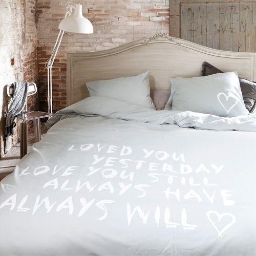Mooi vtwonen dekbedovertrek met leuke tekst #bedroom #love