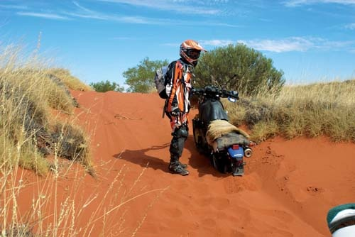 A group of South Australian farmers tackled the challenging Canning Stock Route on motorbikes.
