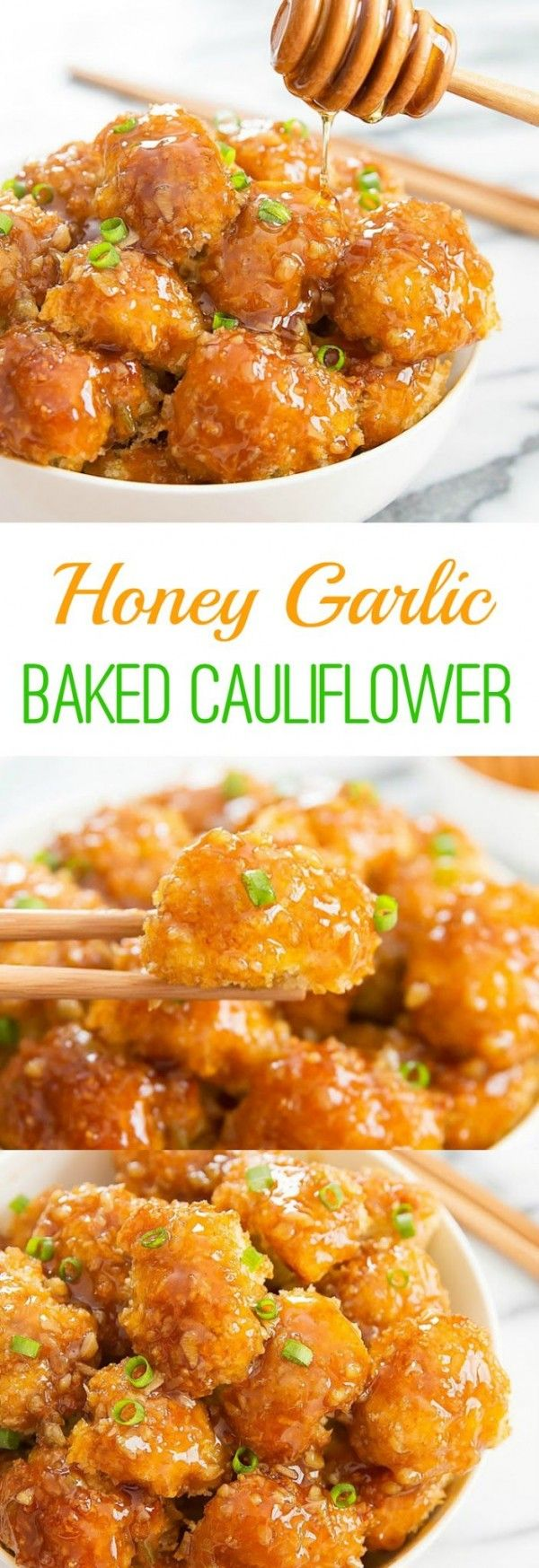 Get the recipe ? Honey Garlic Baked Cauliflower @recipes_to_go (Delicious Food Recipes)