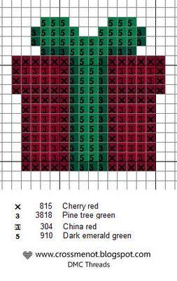 Christmas gift perler bead pattern