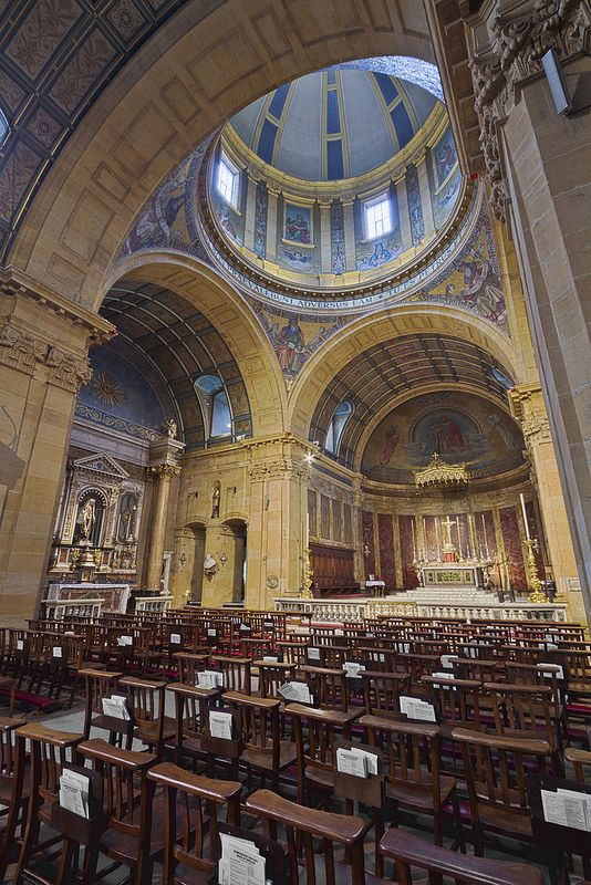 The Oratory of St Philip Neri, Birmingham, England. Birmingham Festival Choral Society sang the Dream of Gerontius here -appropriate for the place so closely associated with Cardinal Newman.