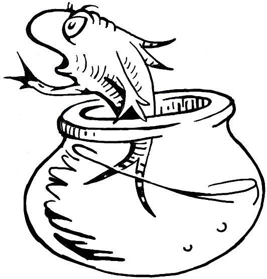 How to Draw the Fish from The Cat in the Hat Dr. Seuss