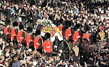 Pix For > Princess Diana Funeral Procession