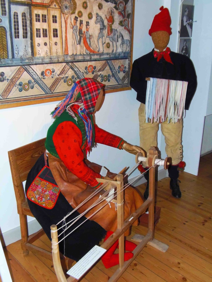 The Ottilia Adelborg Museum – the traditional costume, the lace collections, the life and work of Ottilia. Gagnef, Dalarna, Sweden.