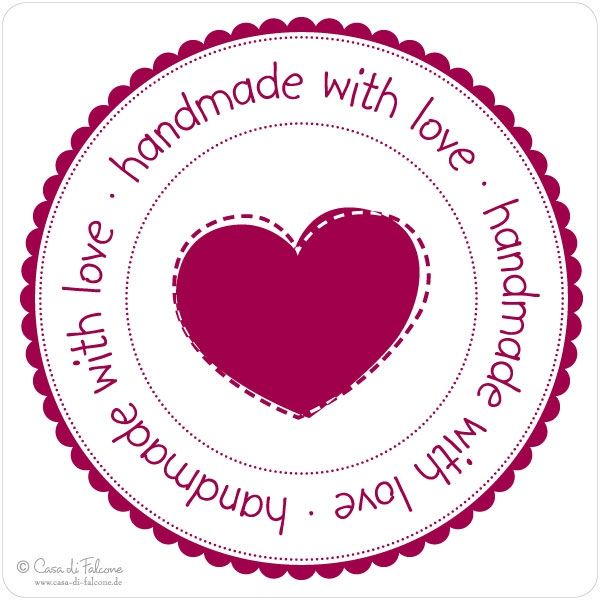Handmade, Printables and Love label on Pinterest