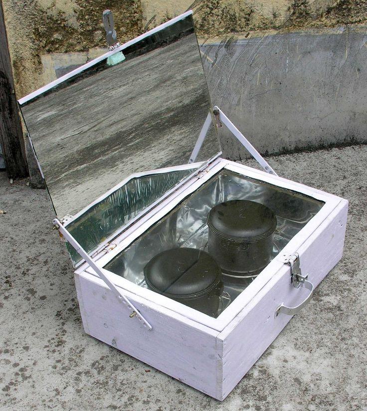 Low cost wooden solar box cooker openjpg solar cooker