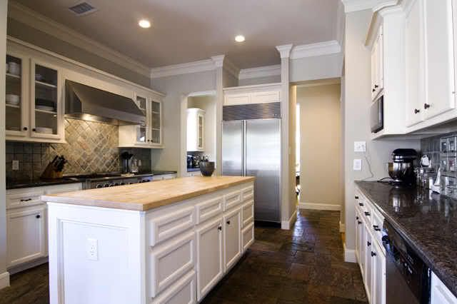 The 102 best images about kitchen on pinterest butcher for Slate appliances with white cabinets