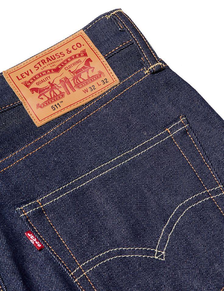 Levi's 511 Slim Fit Selvedge Jeans - Rigid Urn